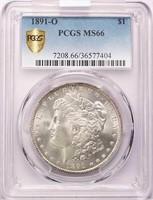$1 1891-O PCGS MS66