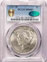 $1 1927-D PCGS MS66+ CAC