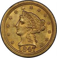 $2.50 1847-O PCGS MS64 CAC