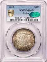 50C 1920 MAINE. PCGS MS67+ CAC