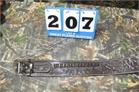 Leather Buscadero Western Holster & Gun Belt