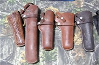 Lot of Hunter Brand Leather Holsters + 1