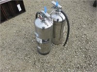 (2) Stainless Steel Charged Water Fire Extinguishe