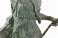 "Antique Bronze Sculpture of "" Nike"""