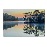 BEFORE PEOPLE WAKE CANVAS WALL ART 2X32 INCH