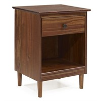1-DRAWER SOLID WOOD NIGHTSTAND SIDE TABLE