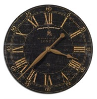 NUMERAL WALL CLOCK IN BLACK