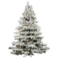 7.5 FOOT FLOCKED ALASKAN CHRISTMAS TREE