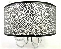 INDOOR 4-LIGHT CHROME METAL BUBBLE SHADE