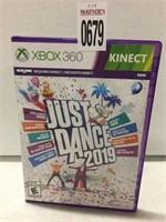 XBOX 360 JUST DANCE 2019 (IN SHOWCASE)