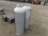 (2) 100 LB. Flame King Propane Cylinders