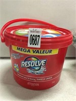 2 PIECE RESOLVE LAUNDRY STAIN REMOVER POWDER