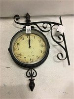 DOUBLE SIDED BISTRO CLOCK