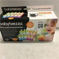 BABY BREEZA 10 REUSABLE FOOD POUCHES