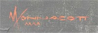 WONNACOTT UNTITLED LANDSCAPE OIL ON CANVAS