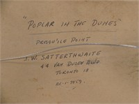 """J.W. SATTERTHWAITE """"POPLAR IN THE DUNES"""""""