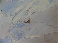 UNSIGNED MOUNTAIN LANDSCAPE OIL ON BOARD