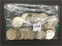 27 assorted 1960's silver dollars