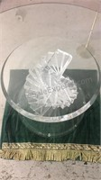 Mid Century Modern Lucite Spiral Coffee Table