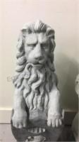 "Pair of cast sculpture lions 31"" tall"