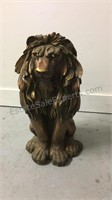24 inch tall cast resin lion
