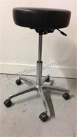 """Rolling adjustable height stool 23""""  to  31"""""""
