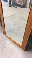 One framed mirror 26 x 66
