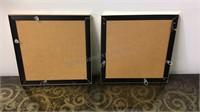2 large square mirrors