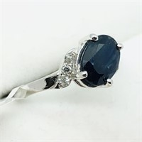 10K White Gold Sapphire(1.5cts) 6