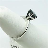 10K White Gold Black Diamond(1.6cts)  Ring (~Size