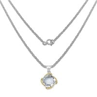 Rhodium Plated Crystal(5.7cts)  Pendant (184 -