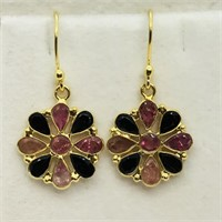 Gold-Plated Sterling Silver Tourmaline  Earrings