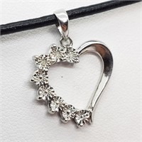 Sterling Silver Diamond(0.01cts)  Necklace