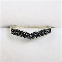 Sterling Silver Marcasite  Ring (Size 6.75) (162 -