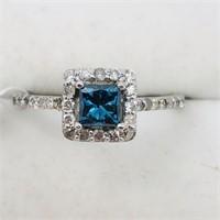 14K White Gold Blue Diamond(0.5cts) 30