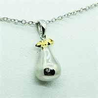 Sterling Silver Diamond  Necklace (198 - JT53)