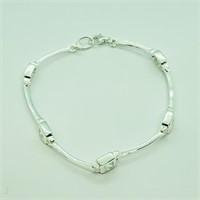 Sterling Silver Cubic Zirconia  Bracelet (~weight