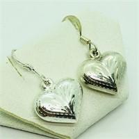 Sterling Silver Heart Shaped  Earrings (~weight