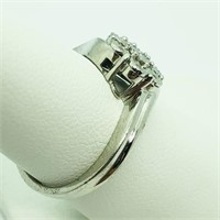 Sterling Silver 7 Diamond   Ring (~Size 7)