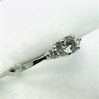 14K White Gold Diamond(0.32cts) Side