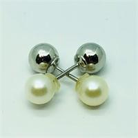 Silver Fwp  2 In 1  Earrings (158 - JT53)