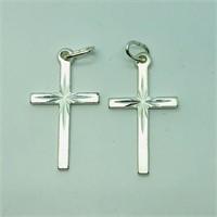 Sterling Silver 2 Cross Pendants  Pendant
