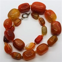 Red Agate  Necklace (~weight 129.55g) (87 -