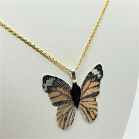 Butterfly Shaped Natural Leaf   Necklace (~weight