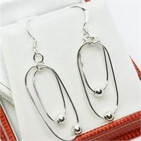 Sterling Silver Dangle Style  Earrings (~weight