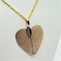 Natural Leaf  Necklace (~weight 3.2g) (131 -