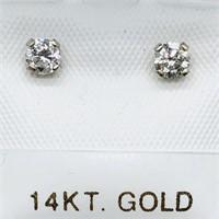 14K White Gold Diamond(0.35cts) I-J, Si1-Si2