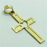 10K Yellow Gold Cross Shaped Pendant (59 - JP311)