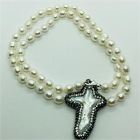Freshwater Pearl  Necklace (~weight 26.3g) (90 -