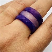 Natural Agate Eternity  Ring (92 - JP311)